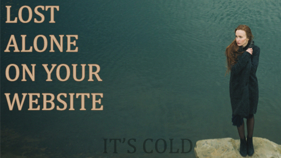 The loneliest place on yourwebsite